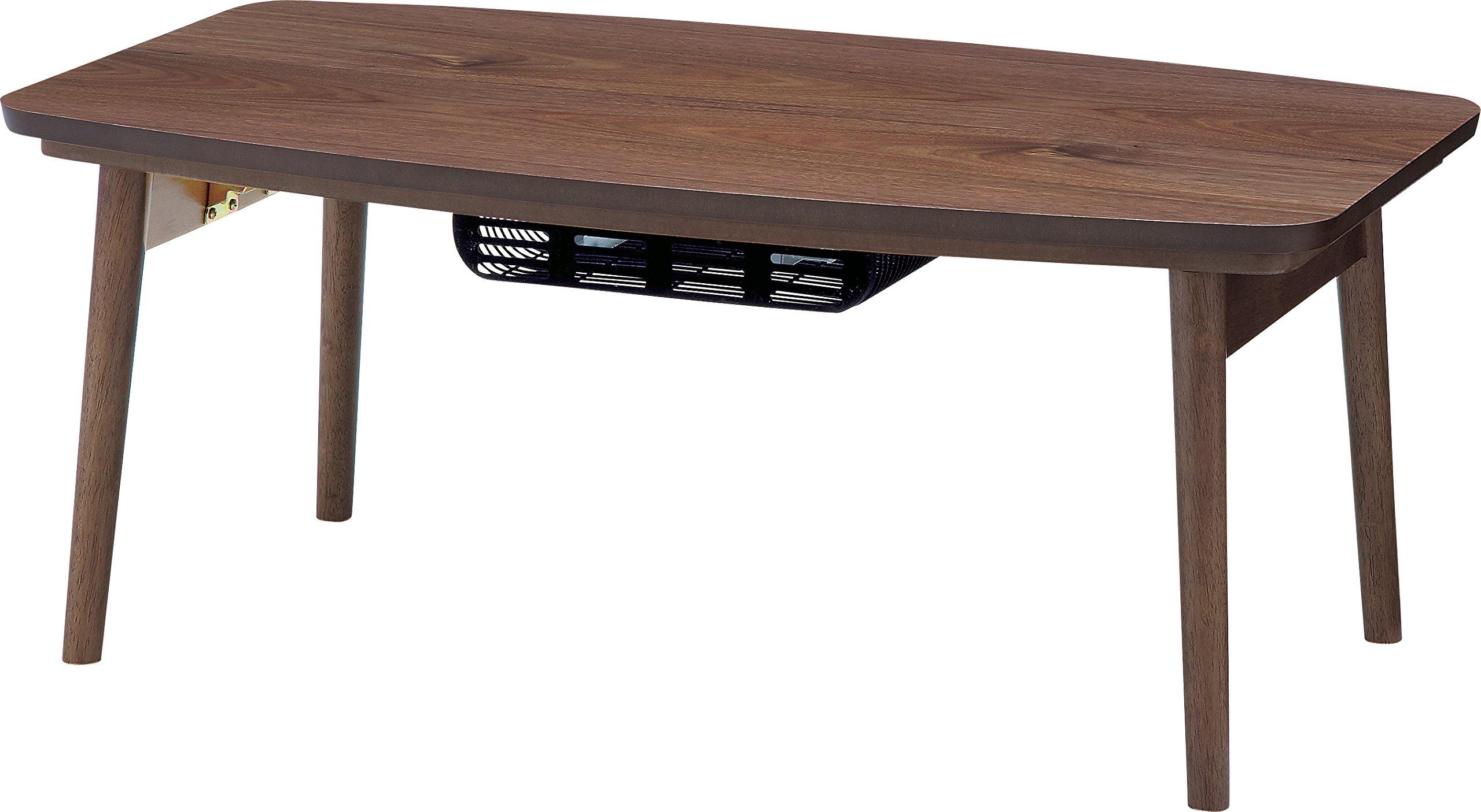 AZUMAYA Folding Legs Wooden Kotatsu Heater Table Walnut Brown ELFE-901WAL Home and Living