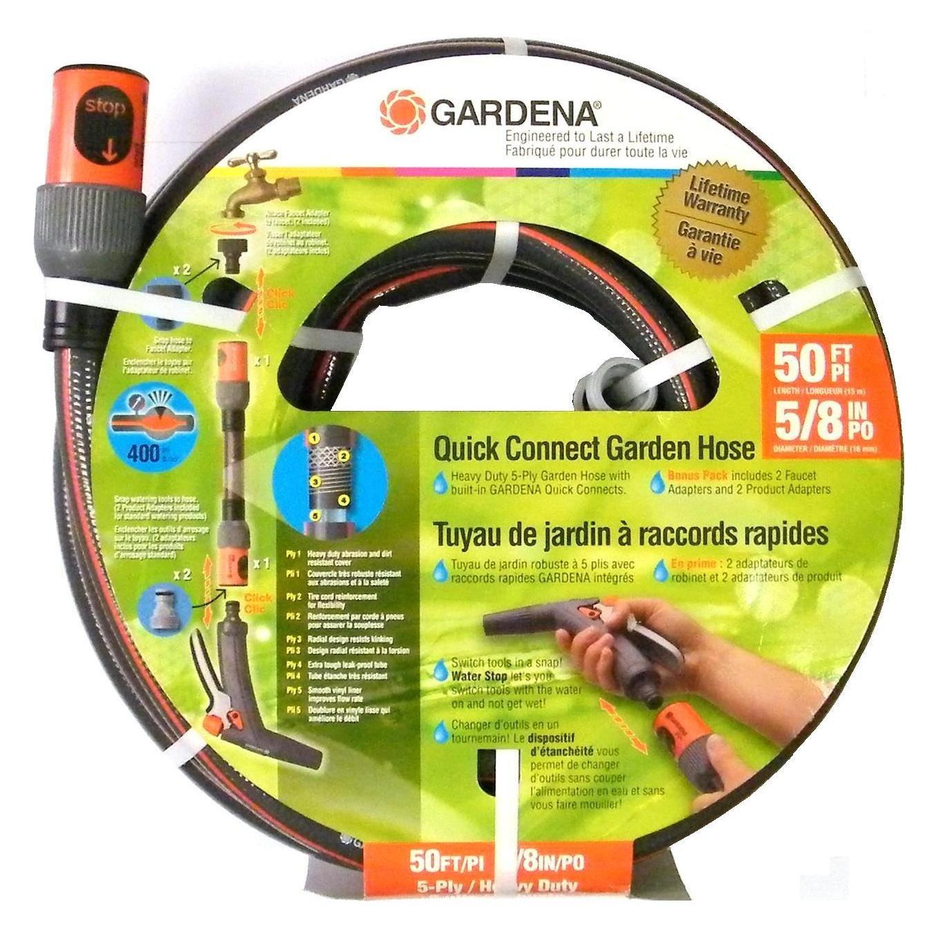 Amazon.com   Gardena 39000 50-Foot 5 8-Inch Comfort Heavy Duty Garden Hose    Garden   Outdoor 3169bb0f6562