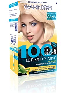 garnier 100 ultra blond dcoloration sans ammoniaque le blond platine - Keranove Coloration Sans Ammoniaque