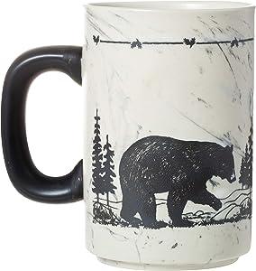 Cape Shore 18oz Heavy Stoneware Sema Pottery Mug, Multiple Styles Available (Bear)