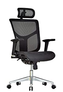 GM Seating Ergonomic Mesh Office Chair Dreem II Mesh Series, Black Mesh, Chrome Base (Headrest)