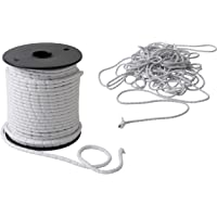 IPEA Lood vlechtwerk - 10 meter - lood koord voor gordijnen, stoffen - verschillende grammagessen - gewicht - kleur wit…