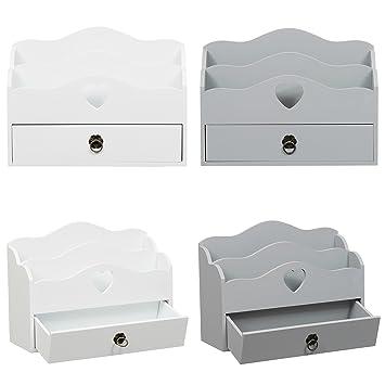 Goetic Diseño de Madera Organizador para Cartas con cajón de ...