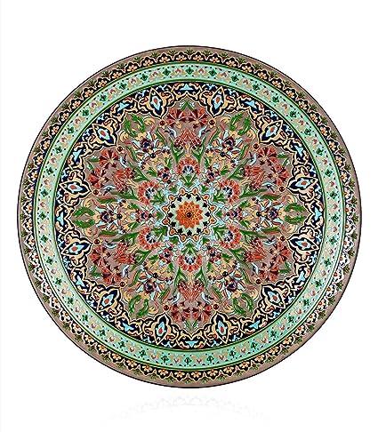 Amazon.com: The Sulebar decorative wall plates handmade glass hand ...