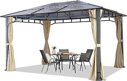 Cenador de jardín 3x4 m Aluminio Techo de policarbonato Aprox ...