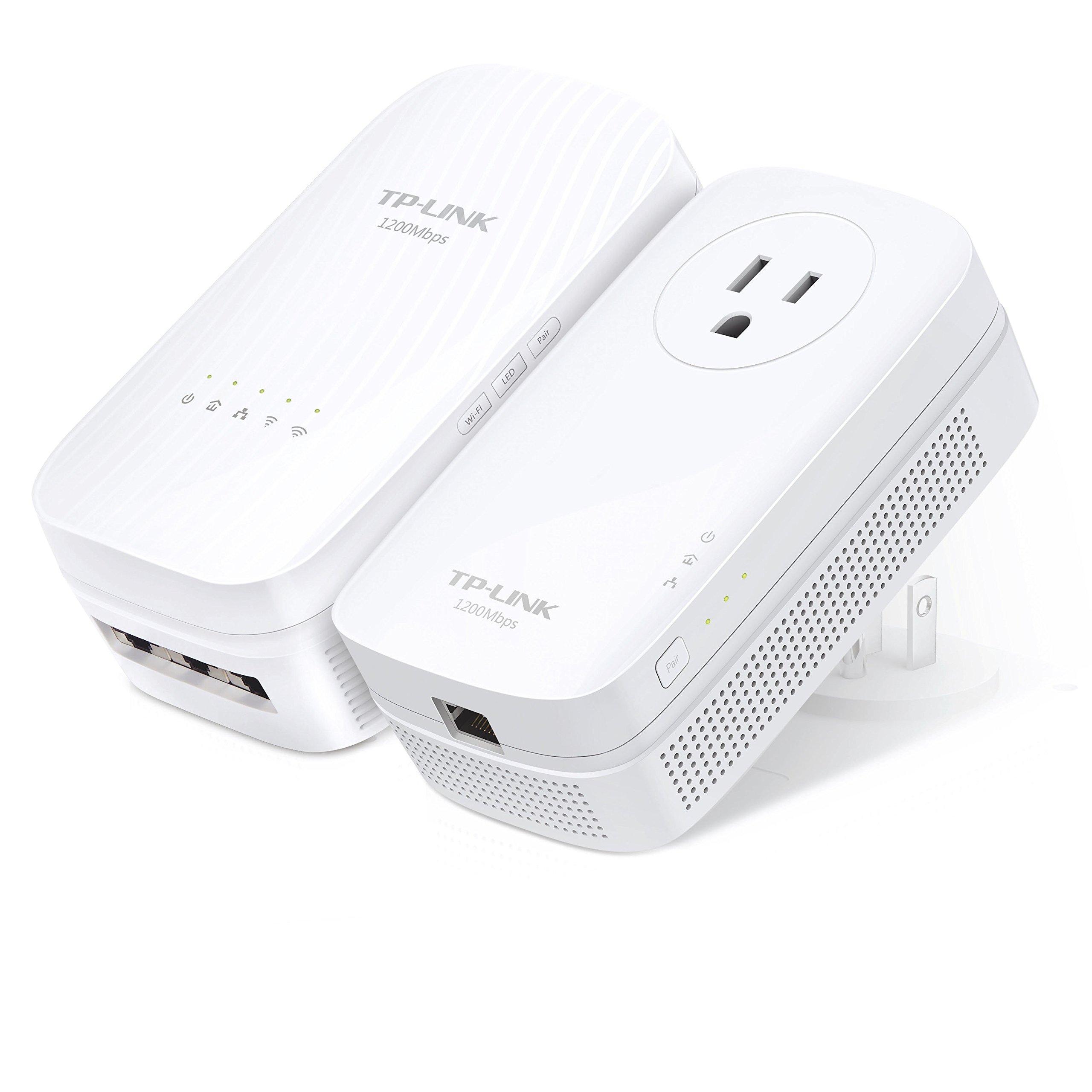TP-LINK AC1750 Wi-Fi Range Extender, AV1200 Powerline Edition (TL-WPA8730 KIT) by TP-Link