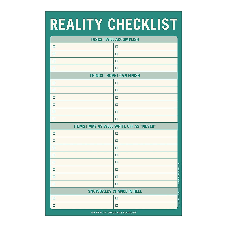 Amazon.com: Knock Knock Reality Checklist Pad, 6\