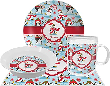 Christmas Penguins Dinner Set - 4 Pc (Personalized)  sc 1 st  Amazon.com & Amazon.com | Christmas Penguins Dinner Set - 4 Pc (Personalized ...