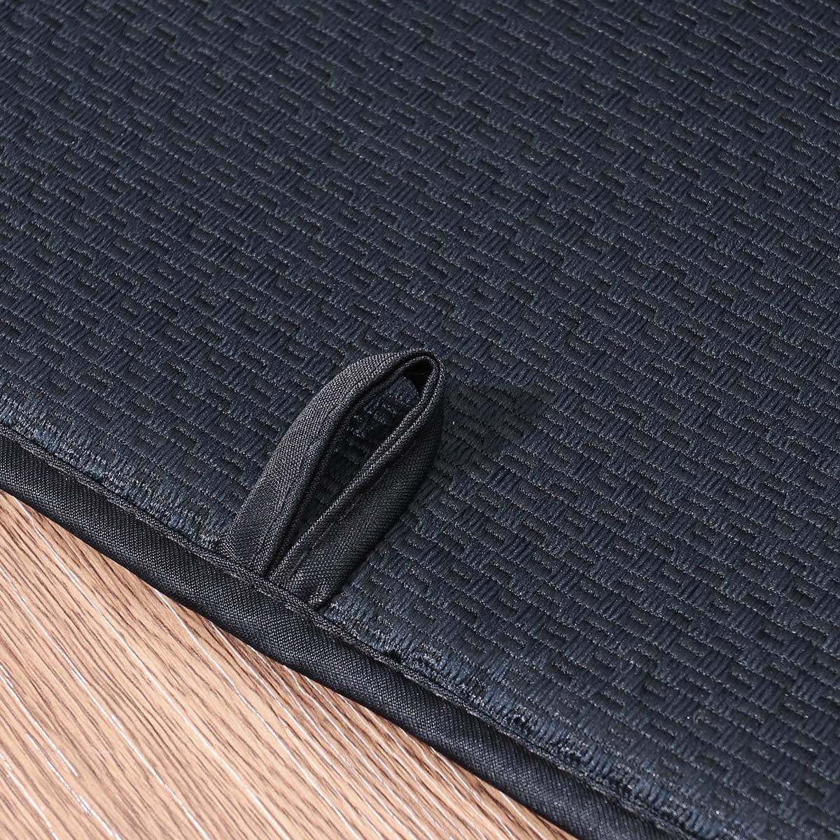 posavasos negro mesa BESTONZON Plato de secado Estera multiprop/ósito absorbente resistente al calor taza rectangular