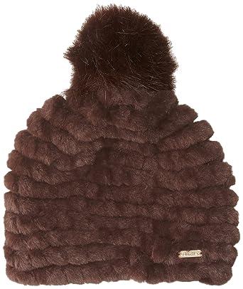 ca92ade0274 Calvin Klein Women s Knit Faux Fur Pom Beanie