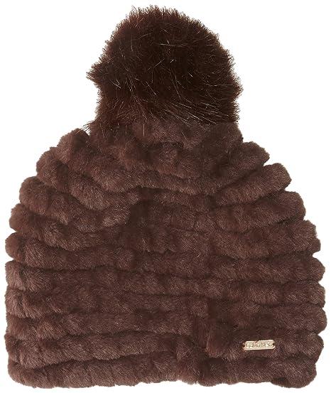 d93dfa6d718 Calvin Klein Women s Knit Faux Fur Pom Beanie