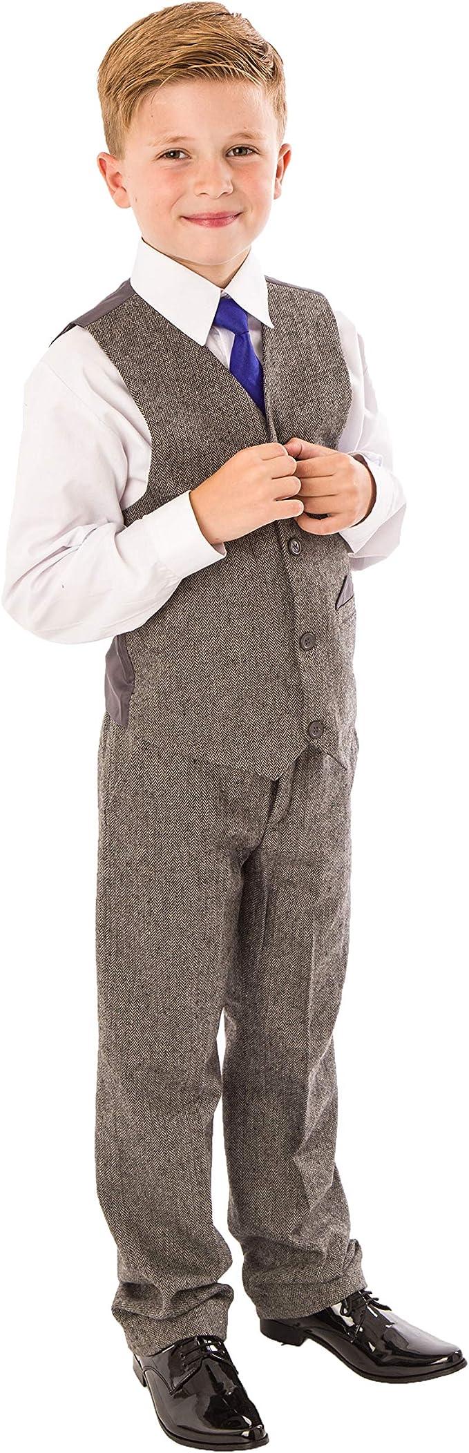 Traje de tweed para niños, 4 piezas para boda, Page Boy, traje ...