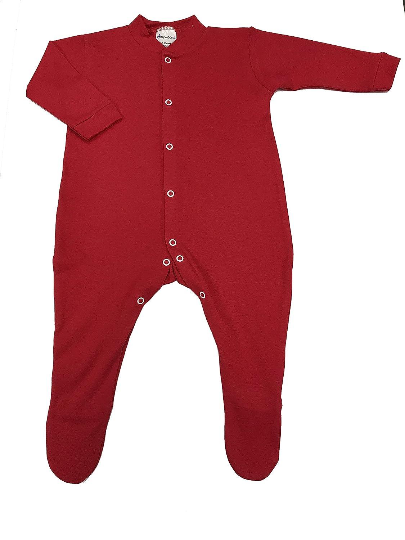 8d7932e11cf2 BabywearUK Sleepsuit - Black - 0-3 months - British Made  Amazon.co ...