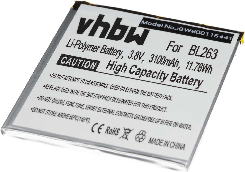 vhbw Litio polímero batería 3100mAh (3.85V) para Smartphone ...
