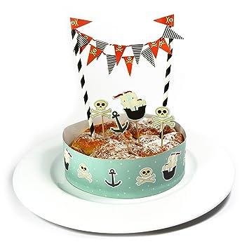 Frau Wundervoll Kuchen Deko Set Pirat Kuchengirlande