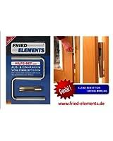 Fried Elements 01317 Plattenheber | Plattentragegriff | Tür- & Hebebügel | Transportieren Von Türen, Arbeitsplatten | Türen Aus- & Einhängen | Mit Rutschfestem Silikon | 1 Bügel & 1 Hülse