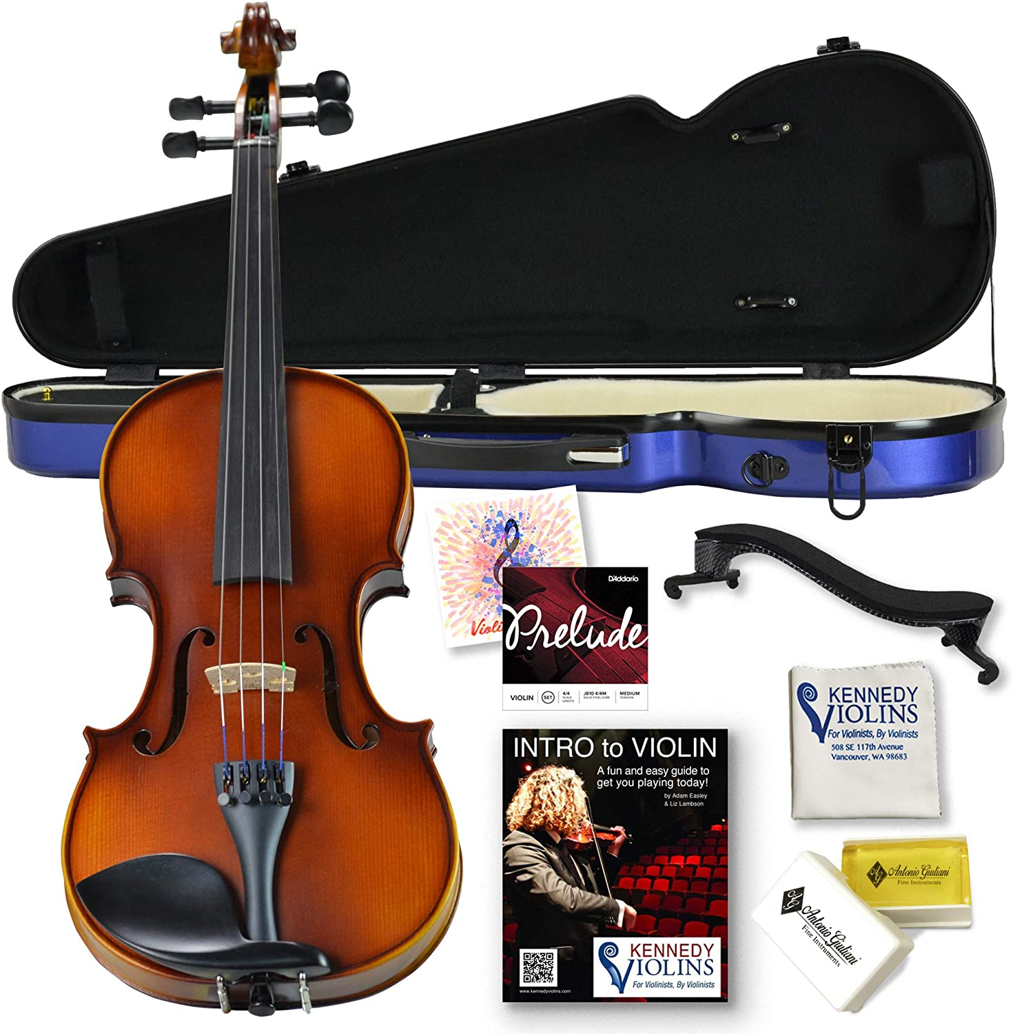 Ricard Bunnel G1 Violin Outfit 4/4 (Full) Size In Hard Shell Case