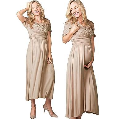 cc5bd3eb476 Sweet Mommy Maternity and Nursing Empire Waist Maxi Dress at Amazon ...