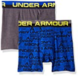 Under Armour Boys' Big 2 Pack Solid Cotton Boxer