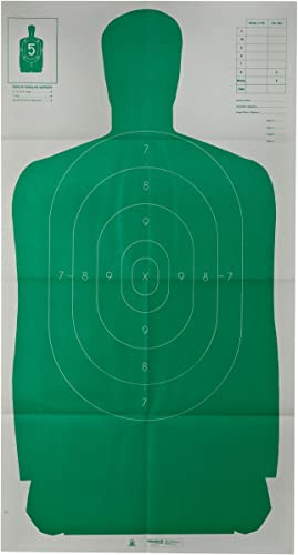 Champion Traps and Targets 40735 Champion LE 24x45-Inch Green Police B27FSA Silhouette Target (Pack of 10), Multi