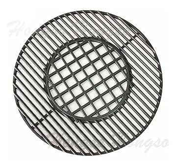 Hongso pch835 hierro fundido Gourmet sistema de barbacoa parrilla con bisagras de repuesto para Weber,