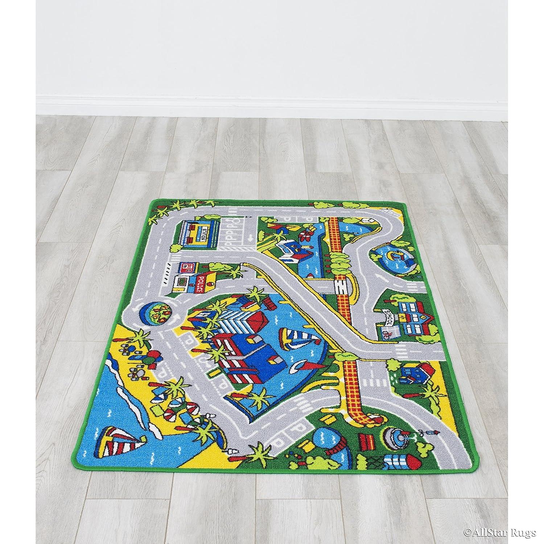 Amazon.com: Allstar verde Harbor Parque mapa niños alfombra ...