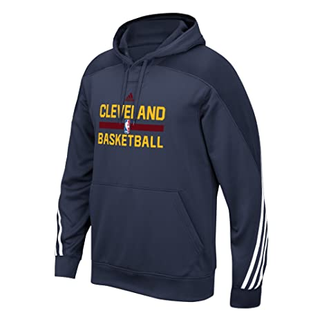 f07518e9c1f Cleveland Cavaliers NBA Adidas Navy Blue Authentic On-Court Practice  Performance Pullover Hoodie For Men
