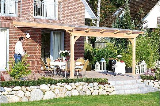 SKAN HOLZ Ravenna - Techo para terraza, incluye perfil de conexión ...