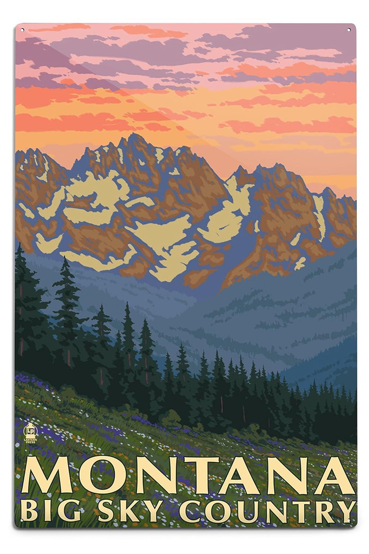 2019人気新作 Montana Sky - Big Sky Spring Country - Spring Wall Flowers (24x36 Giclee Gallery Print, Wall Decor Travel Poster) by Lantern Press B06Y1G5W6Q 12 x 18 Metal Sign 12 x 18 Metal Sign, PAJABOO:e65b50de --- desata.paulsotomayor.net