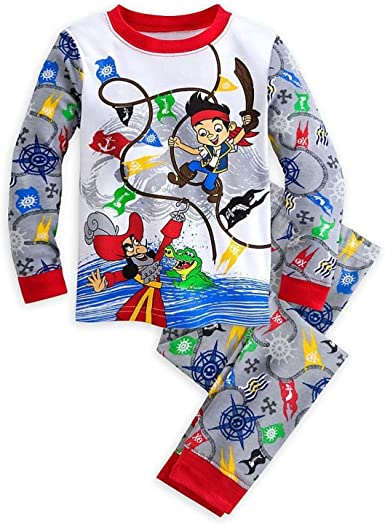 Disney Jake and the Never Land Pirates 5 T Flannel Sleepwear Pajamas New Toddler