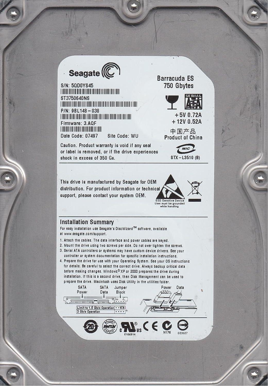 ST3750640NS-IM Seagate 750gb 7200rpm 3.5inch 3gb//S Sata Hard Drive P//
