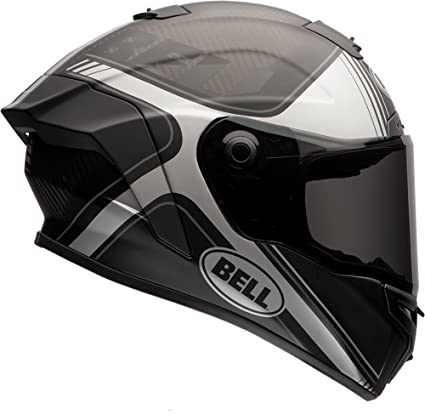 6d82870f Amazon.com: Bell Race Star Full-Face Motorcycle Helmet (Tracer Matte  Black/Grey, Small): Automotive