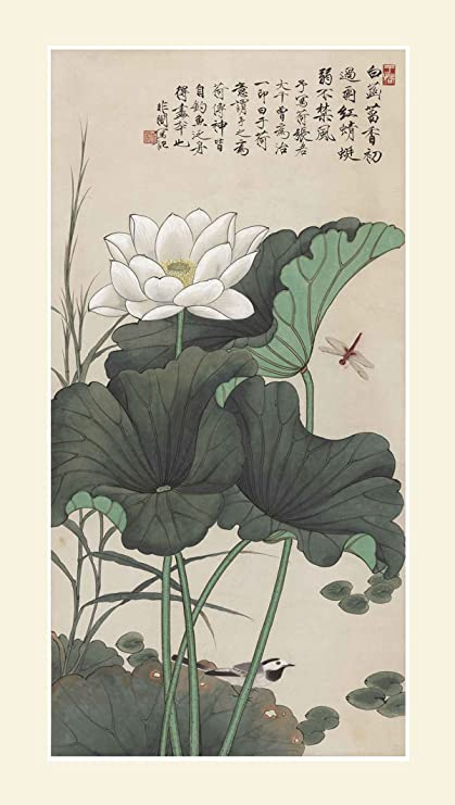 ce15cff69 INK WASH Chinese Black and White Lotus Flower Painting Wall Art Decoration  Picture 19
