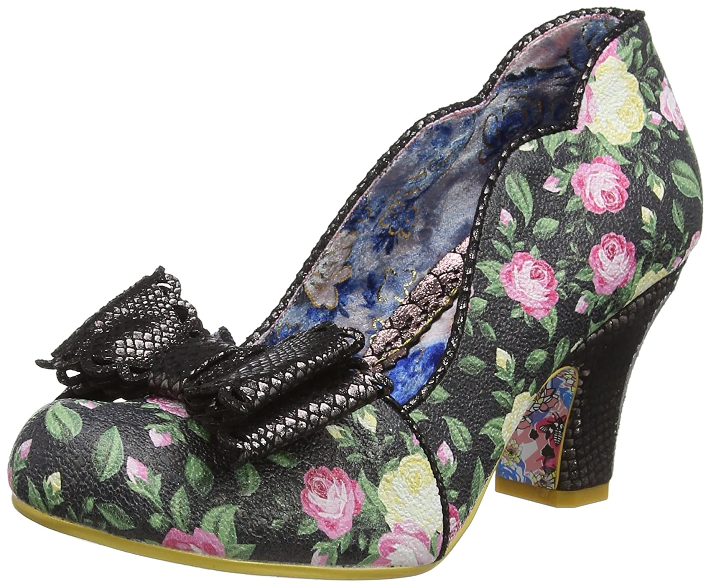Irregular Choice Deco Dreams - Zapatos de Tacón con Punta Cerrada Mujer 43 EU|Negro (Black Floral F)