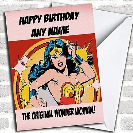 Original personalizado de Wonder Woman diseño tarjetas de ...