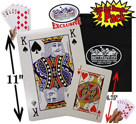 Matty de Juguete Stop - Juego de Cartas Grandes (6,75