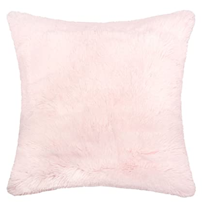Amazon Homey Cozy Faux Fur And Flannel Decorative Pillow Super Simple Shaggy Decorative Pillows