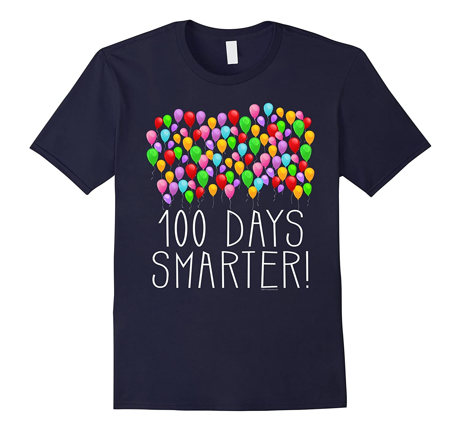 100 Balloons 100th Day of School Teacher/Student T-Shirt-RT
