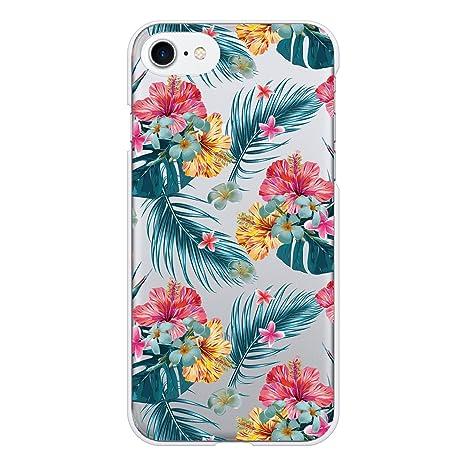 061e4f7a55 Ruuu iPhone7 iPhone8 ハード スマートフォン スマホ ケース カバー 柄入り クリアケース ハワイアン ボタニカル クリア 透明