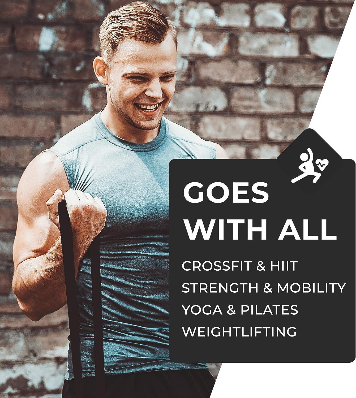 Coresteady Banda de Resistencia Banda para dominadas | Banda de Entrenamiento para Crossfit - Powerlifting - Yoga – Ejercicios de Estiramientos (Una ...
