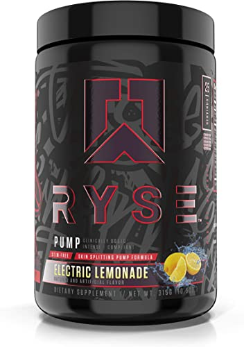 RYSE Up Supplements Project Blackout Pump, Electric Lemonade, 25 Serving