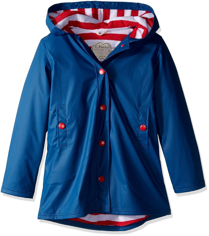 Hatley Mädchen Regenmantel Splash Jacket-Navy (Girls)