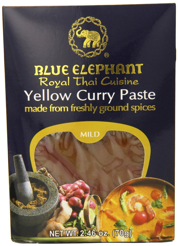 blue elephant Royal Thai Cuisine Yellow Curry Paste 70g