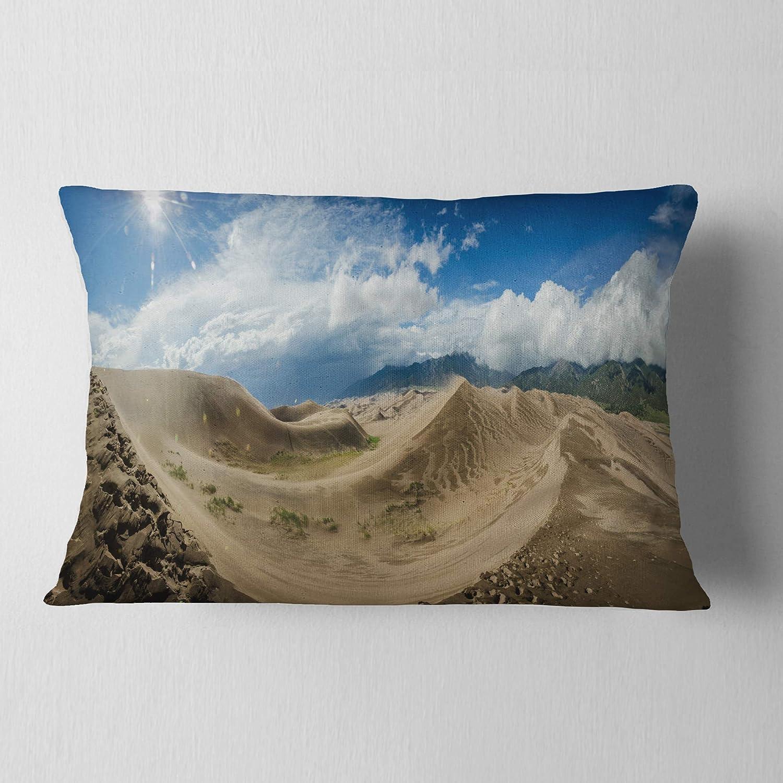 Designart CU11235-12-20 Massive Sand Dunes Panorama' Landscape Printed Lumbar Cushion Cover for Living Room, Sofa, Throw Pillow, 12' x 20',