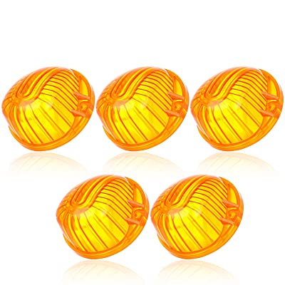 CCIYU 5 Amber Round-Shape Cab Marker Light 9069A Cover Lens for Chevrolet truck pickup 1973-1991 Chevrolet K30 Pickup K20 Suburban K10 Suburban C10 Pickup Blazer K5 Blazer C70 C60 C50 etc: Automotive
