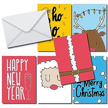 Stylische Weihnachtskarten.Moderne Stylische Weihnachtskarten Set 36 Karten Din A6 36