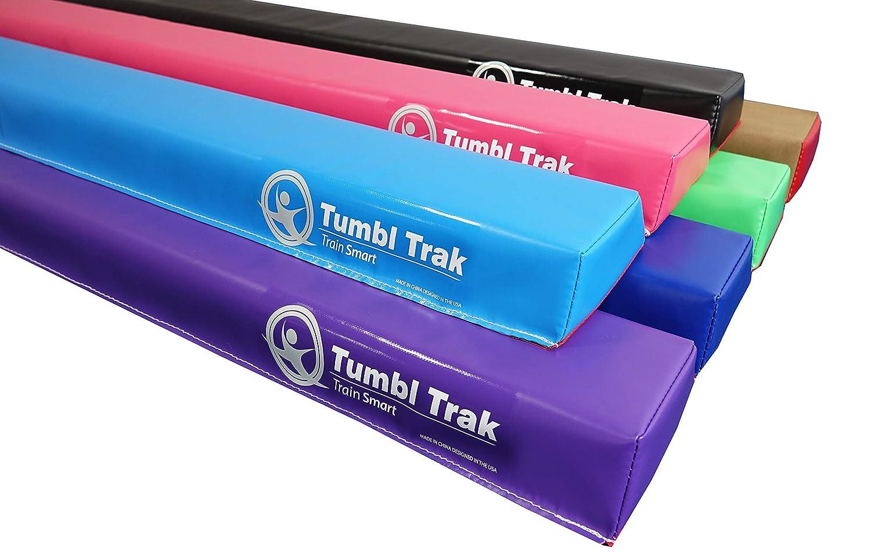 Tumbl Trak 10フィート ホームトレーニング ロー折りたたみバランスビーム ダークブルー 10ft ピンク