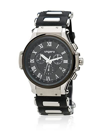 Ungaro Reloj Angelo Plateado/Negro