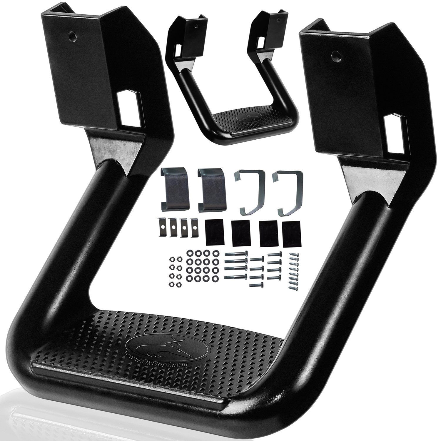 OxGord Aluminum Side Step Set Nerf Bar Best for 2002-2006 Chevrolet Avalanche 1500 for Assistance in Entering & Exiting – Max Capacity Weight 350 lbs by OxGord (Image #4)