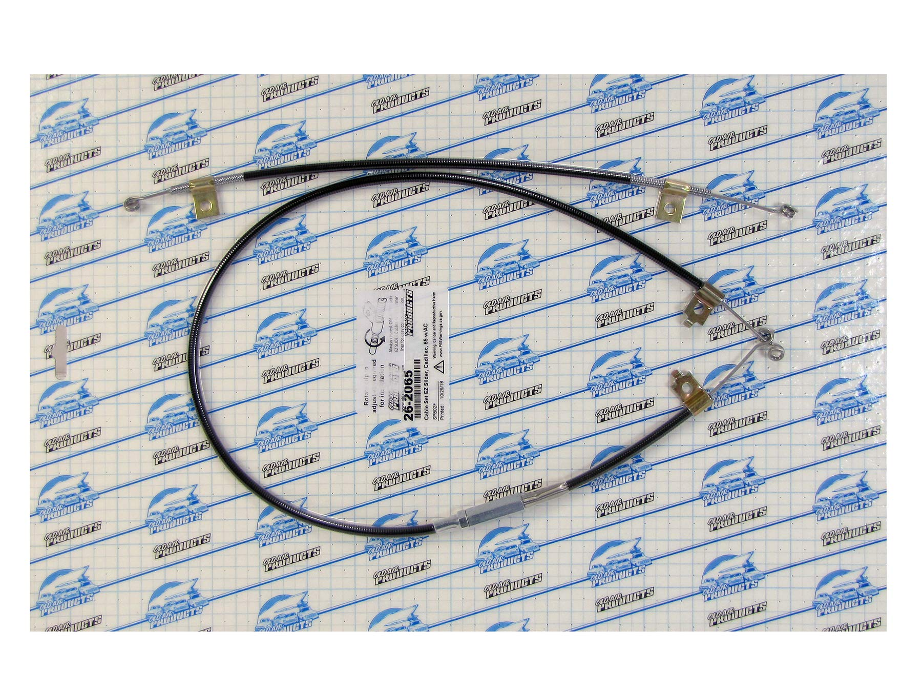 EZ Slider 2PC Cable Set, 1965-66 Cadillac, Factory Air #26-2065 by Old Air Products (Image #1)